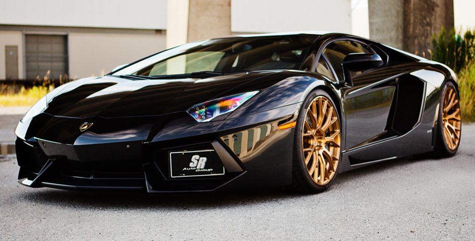 lamborghini lamborghini aventador - Lamborghini Aventador Gold And Black