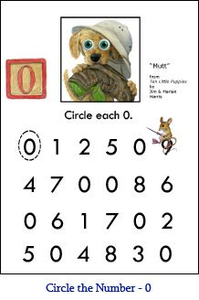 Numbers 0 10 Worksheets Kindergarten