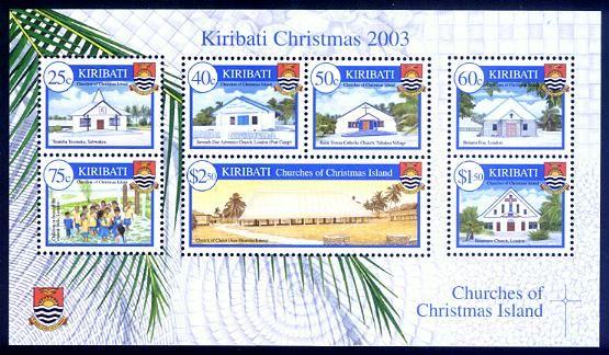 Kiribati Stamps Sc 841a Christmas 2003 S S Stamp Usa Stamps Christmas Stamps