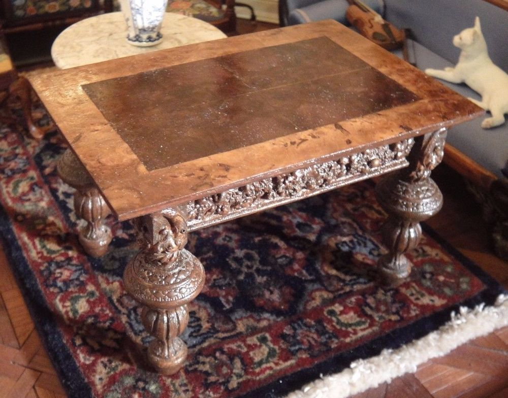 Artisan Michael Reynolds Baroque Table Signed