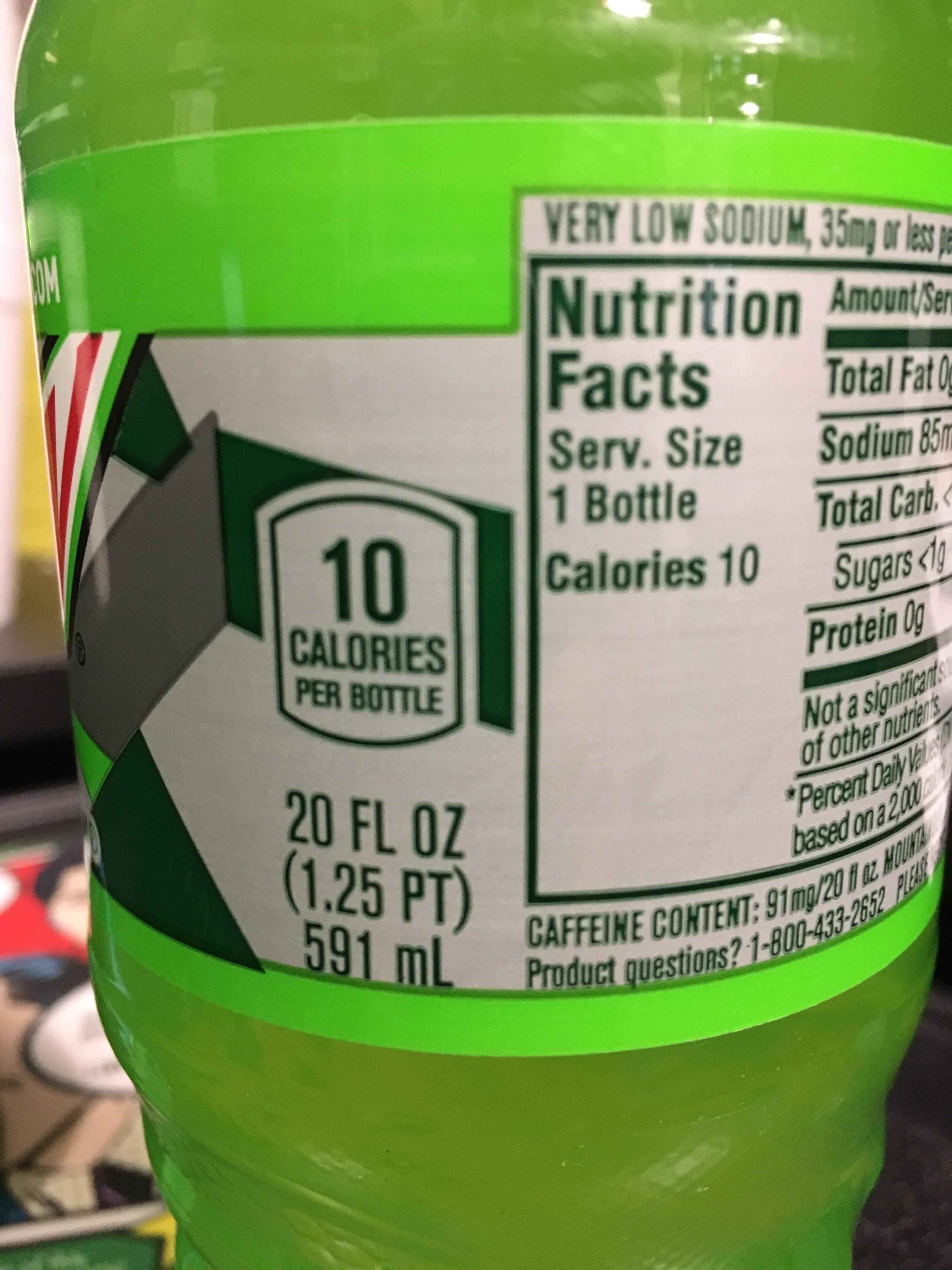Diet Mt Dew Has 10 Calories In A Bottle Always Thought It Was 0 Calories In Sugar Diet Guide Ayurveda Diet