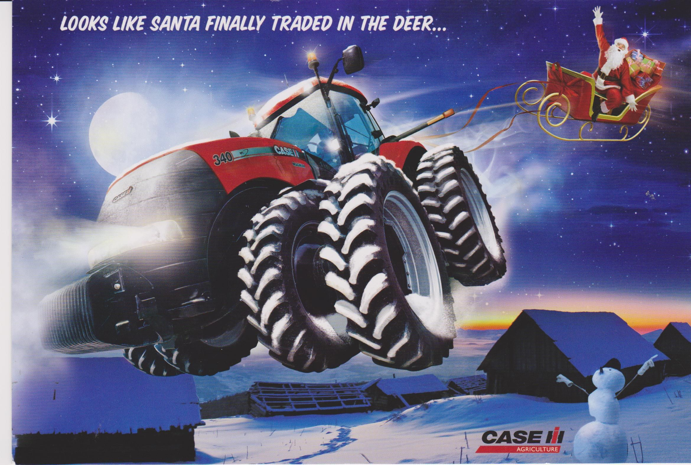 Case IH Santa Has Finally Traded In The Deer Poster