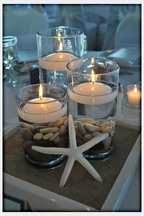 cylinder floating candle vase set of 3 w box frame rocks and star