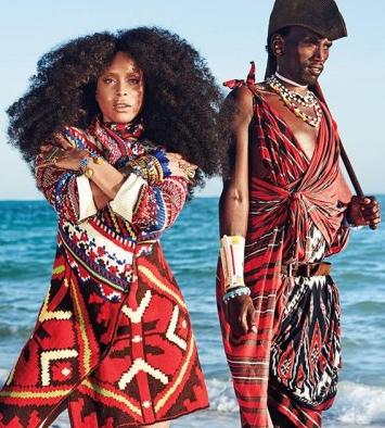 Erykah Badu for Essence Global magazine editorial shot on location in Zanzibar