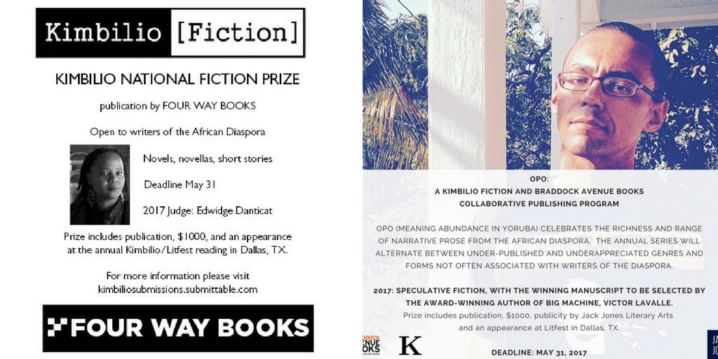 Announcing Kimbilio's Book Prizes! Books, Short stories