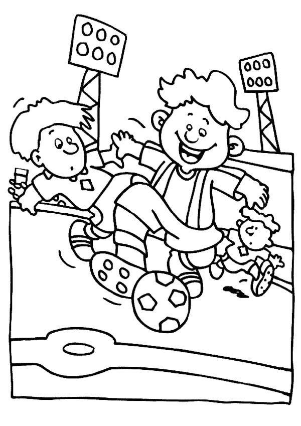 A Group Of Boys Playing Soccer In A Stadium Coloring Page Download Print Online Coloring Pages For Fre Coloring Pages Online Coloring Pages Online Coloring