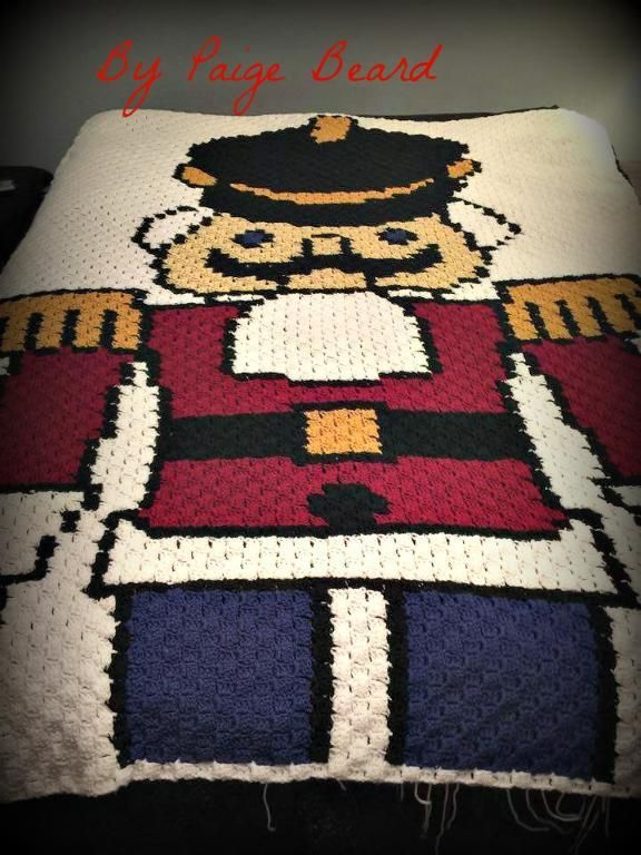 Nutcracker Afghan C2C Graph & Word Chart