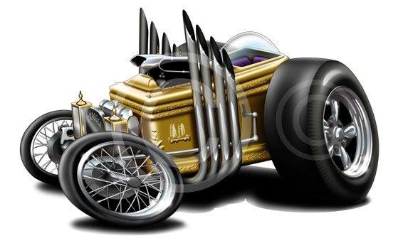 Drag-U-La-Grandpa-Munster-Hot-Rod-Roadster-Mens-Cartoon-Tshirt-9566-dragula-car