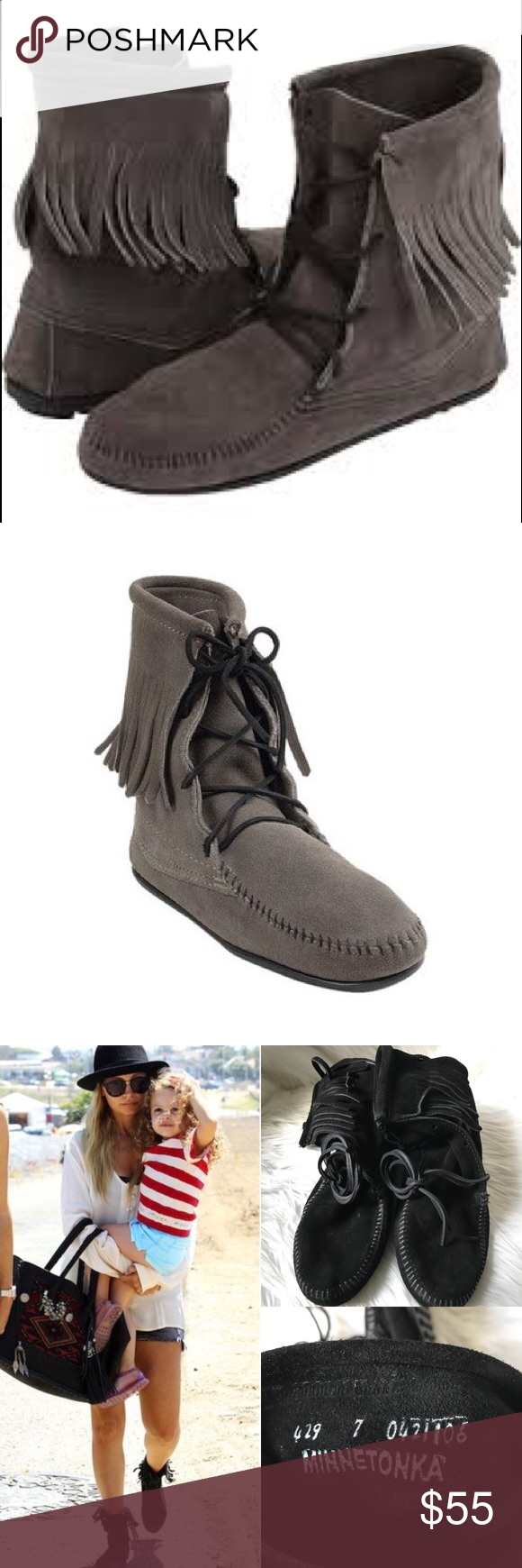 Minnetonka Tramper Ankle Hi Boot Lace Up Ankle Boots Leather And Lace Boots
