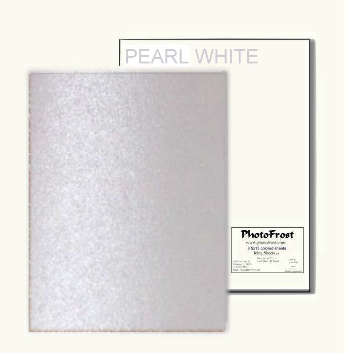 Photofrost ultimate edible design paper pearl 12 pkg made in usa