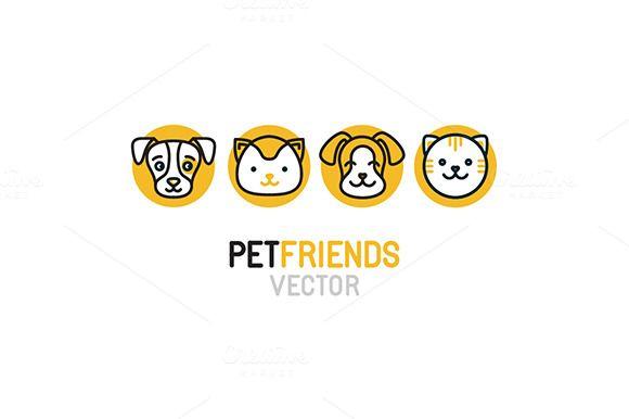 Pet Logos Icons And Patterns Animal Logo Pet Logo Design Pet
