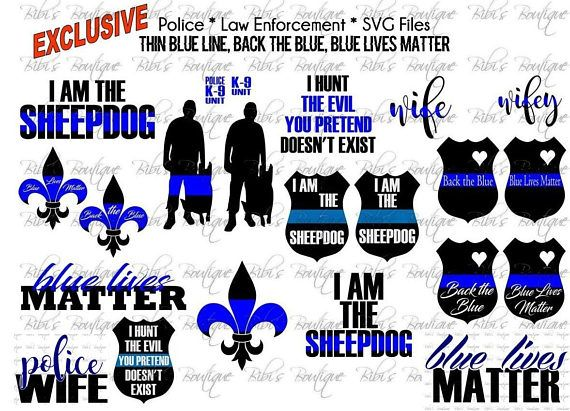 Police police k 9 law enforcement thin blue line for Vinyl letters for plastic cups