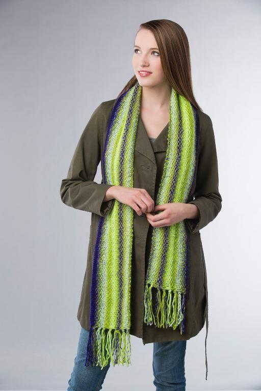 (6) Name: 'Knitting : Longways Linen Scarf