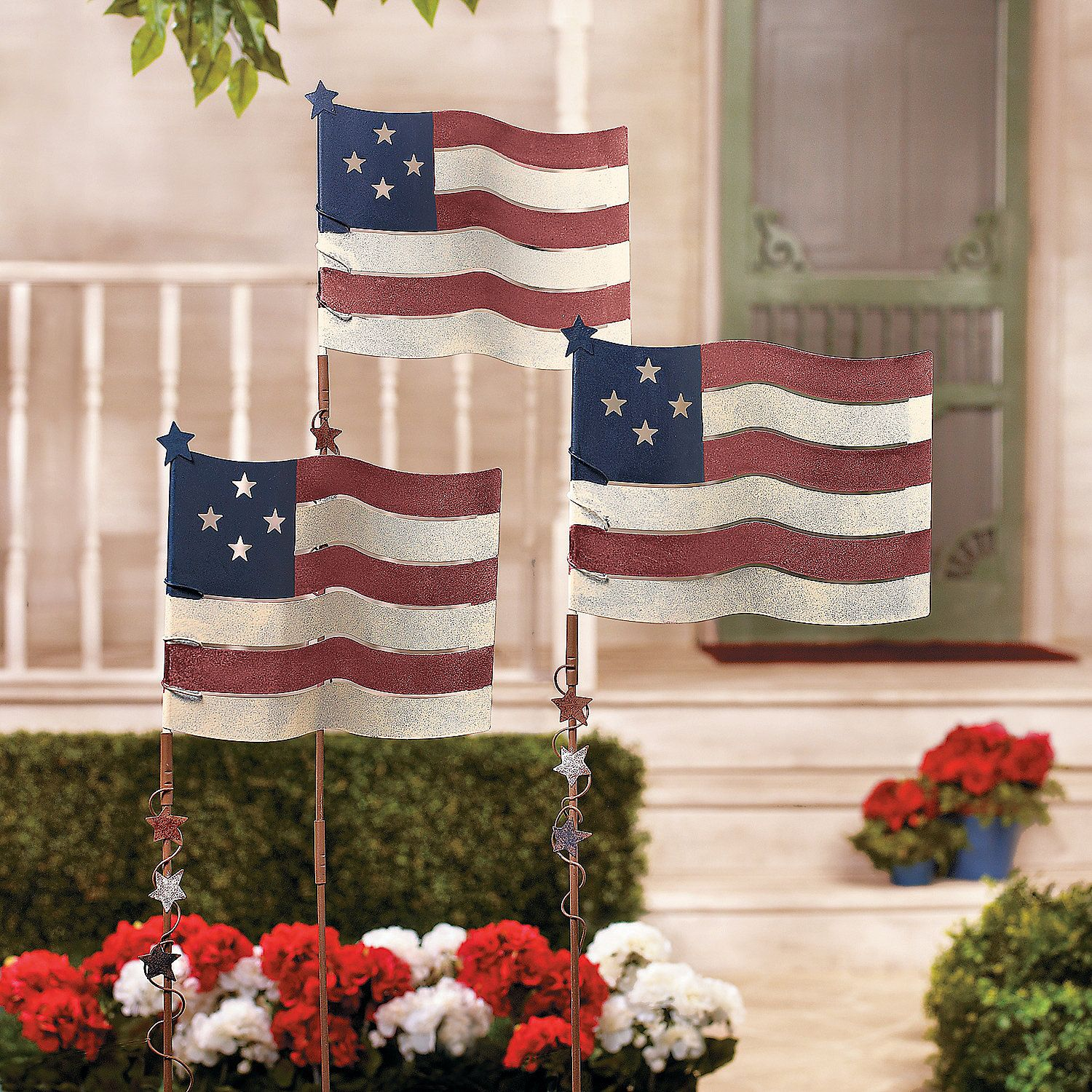 flag yard stakes orientaltrading com 4th of july pinterest