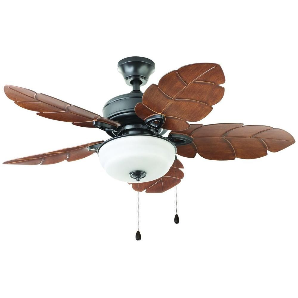 Home Decorators Collection Palm Cove 44 In Outdoor Natural Iron Ceiling Fan 51544