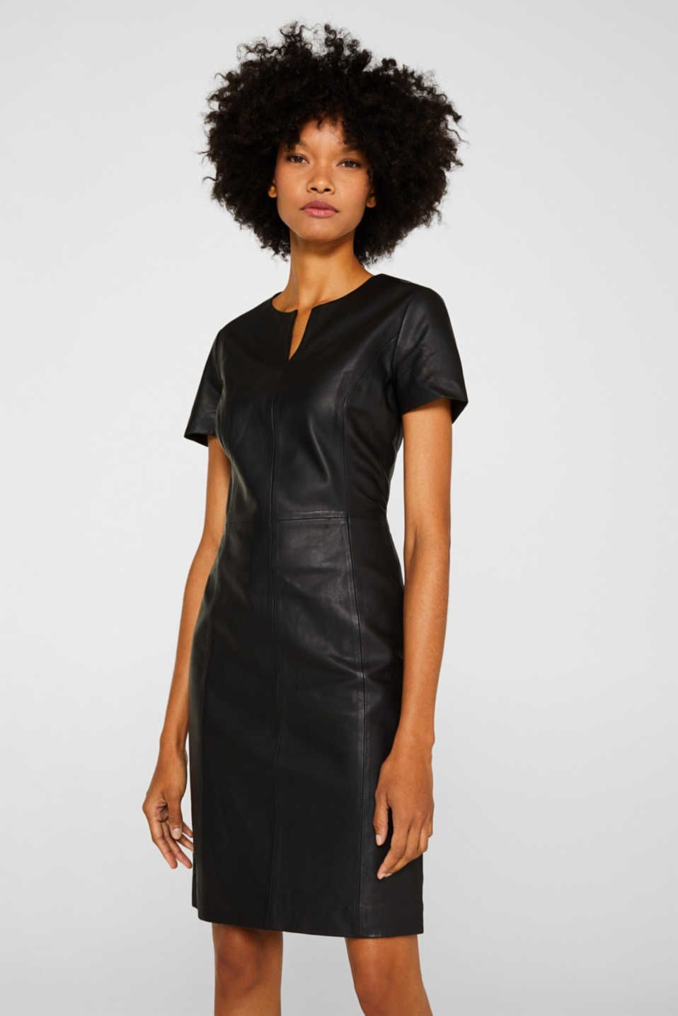 esprit - aus lammleder: kleid im etui-stil im online shop