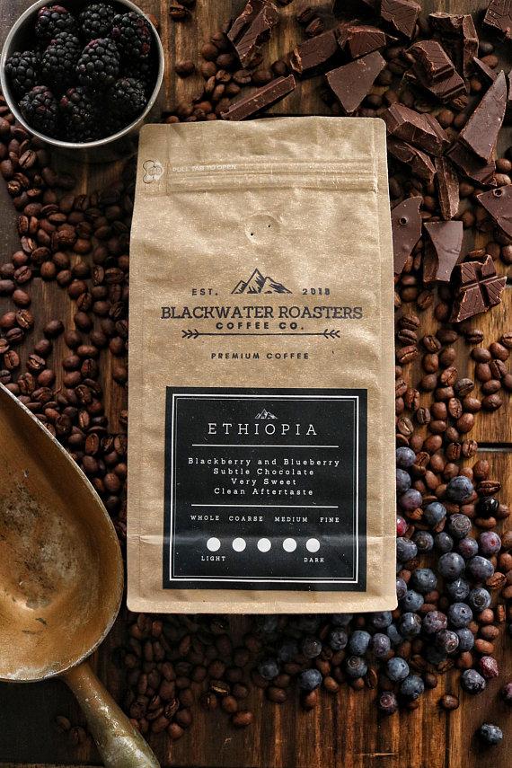 Ethiopia Single Origin Coffee Blueberry Blackberry Chocolate Sweet Flavor Roasted Gift Housewarm Coffee Single Origin Coffee Fresh Roasted Coffee Beans