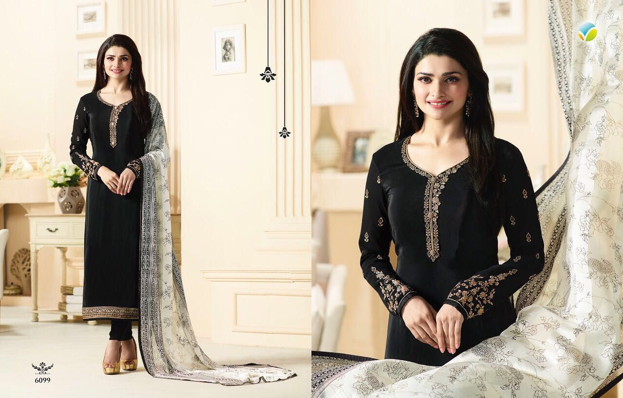 5b227d61f6 Royal Crepe Silkina ~ 10 by Vinay Fashion Code ~ RC 6093 | Price ~ 3150