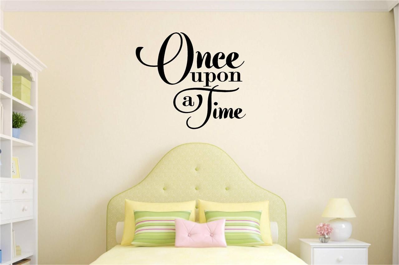Once Upon A Time Love Decor Vinyl Decal Wall Sticker Words Lettering ...