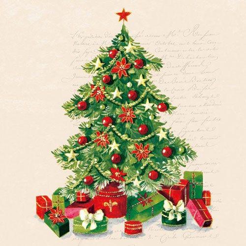 Juletræs Servietter - Pakke med 20