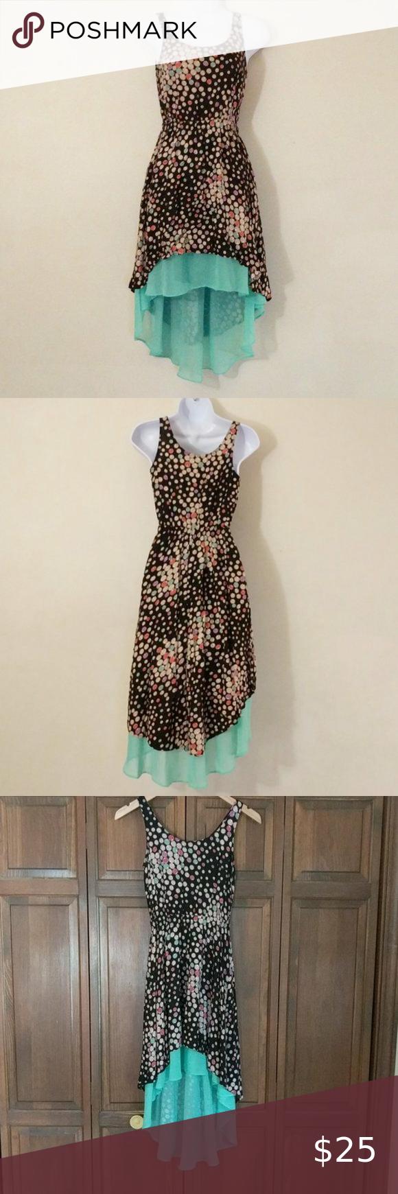 Xhilaration Xs Tp Hi Low Summer Dress Summer Dresses Blue High Low Dress Sheer Mini Dress [ 1740 x 580 Pixel ]