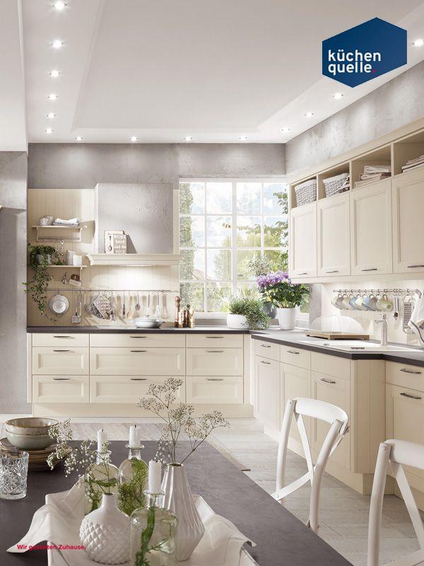 Hell und gemütlich erstrahlt die Landhausküche Norina 9985 in - www küchen quelle de