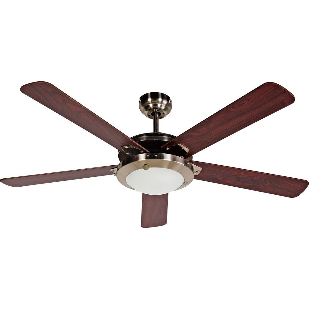 Design House Eastport 52 In Satin Nickel Ceiling Fan Ceiling Fan Lighting Ceiling Fans Ceiling Fan With Light