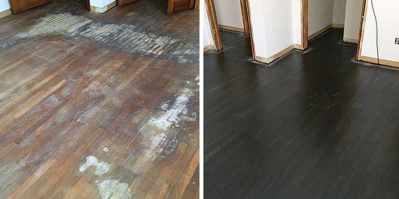 Refinishing Hardwood Floors, How Do You Remove Urine Stains On Laminate Flooring