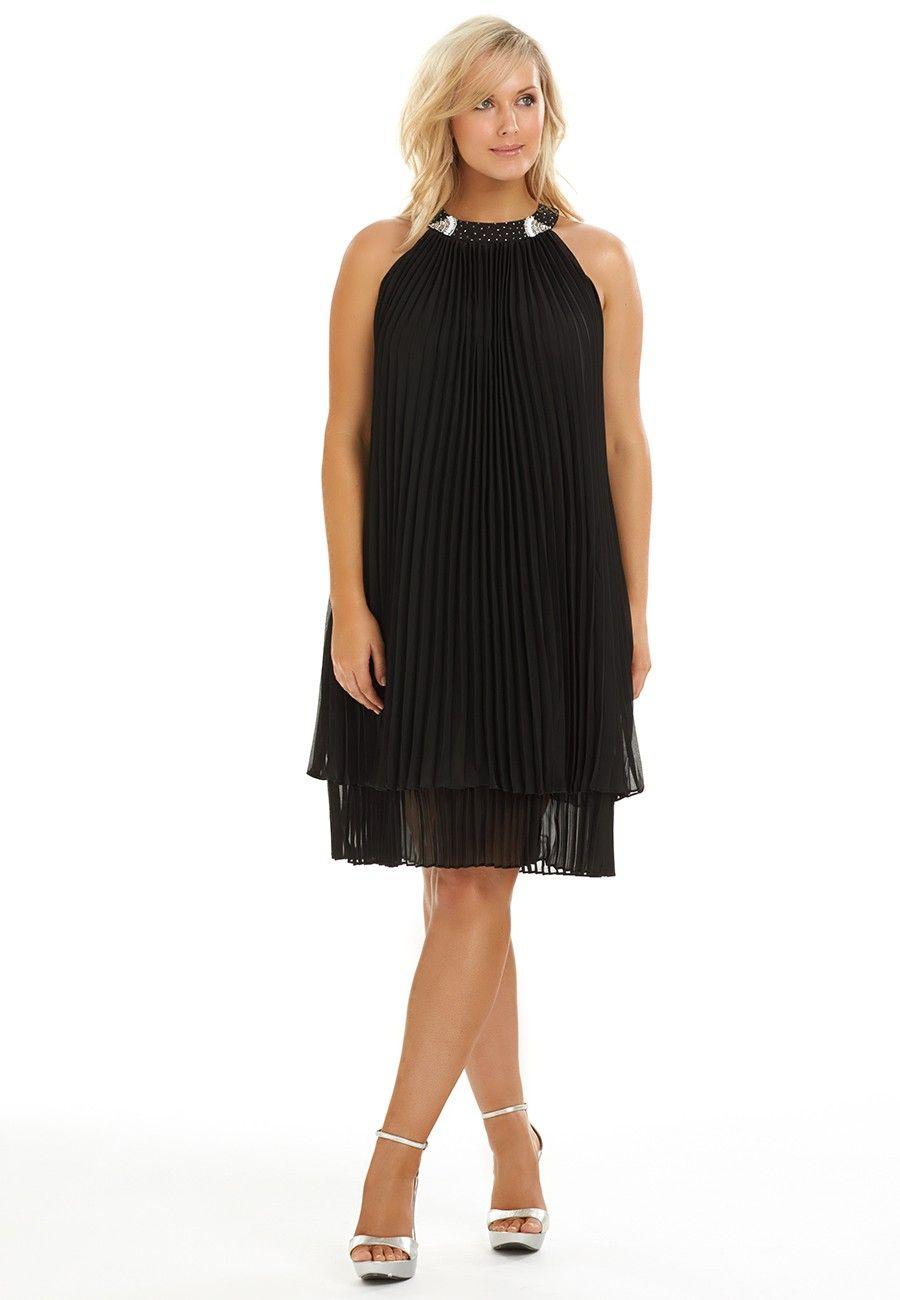 25+ Black pleated chiffon dress ideas