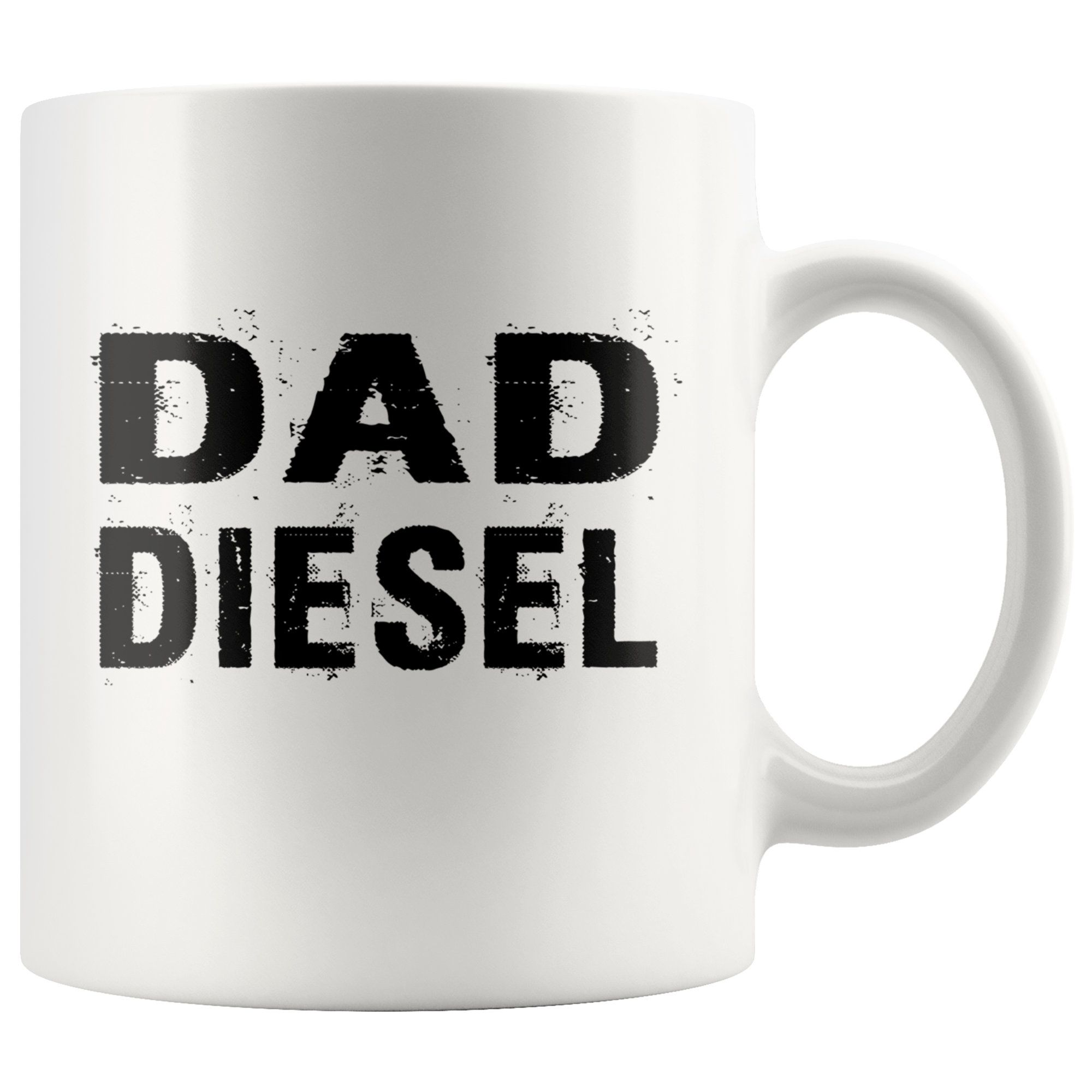 Dad diesel white coffee mug funny fathers day gift new