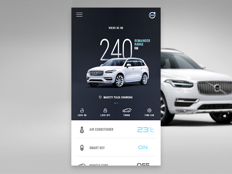 Volvo Xc 90 Control Center For Smart Product Mobile