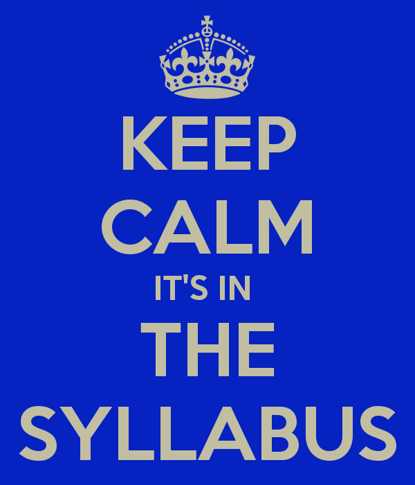 keep calm it s in the syllabus humor pinterest keep calm and