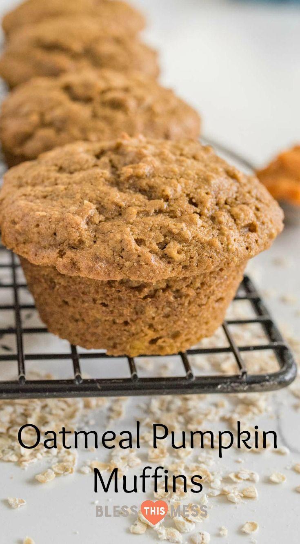 One Bowl Pumpkin Muffins   Oatmeal Pumpkin Muffins Recipe