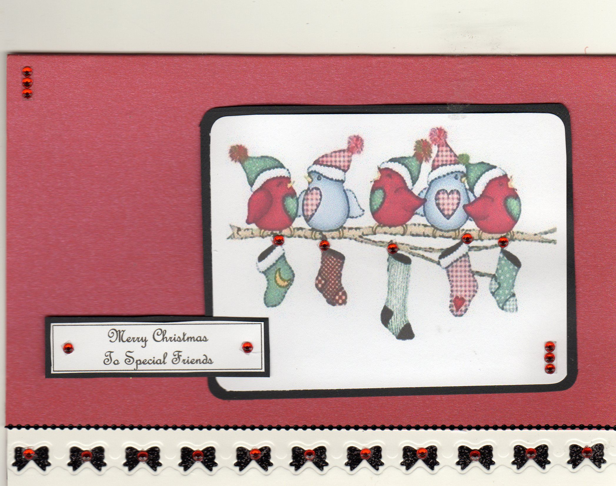 Christmas card for special friends birds and stockings picture is christmas card for special friends birds and stockings picture is in my topper section kristyandbryce Gallery
