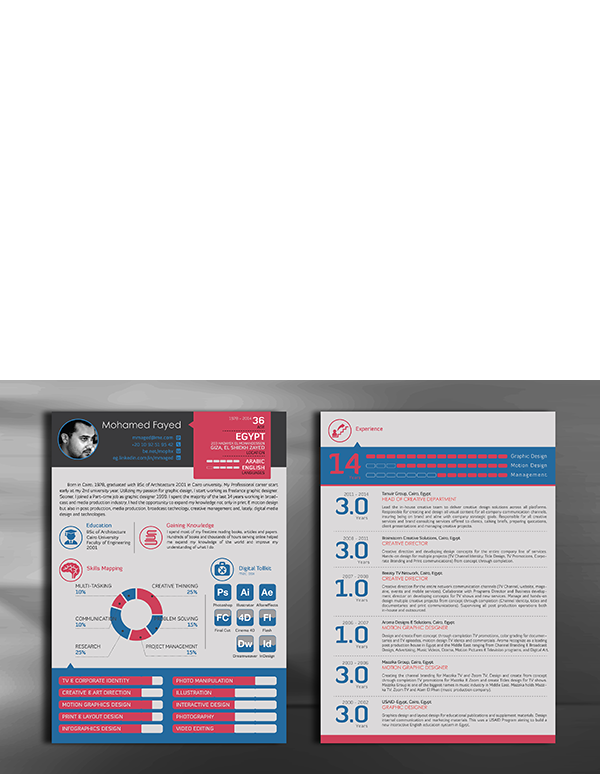Resume Template Free on Behance => More at