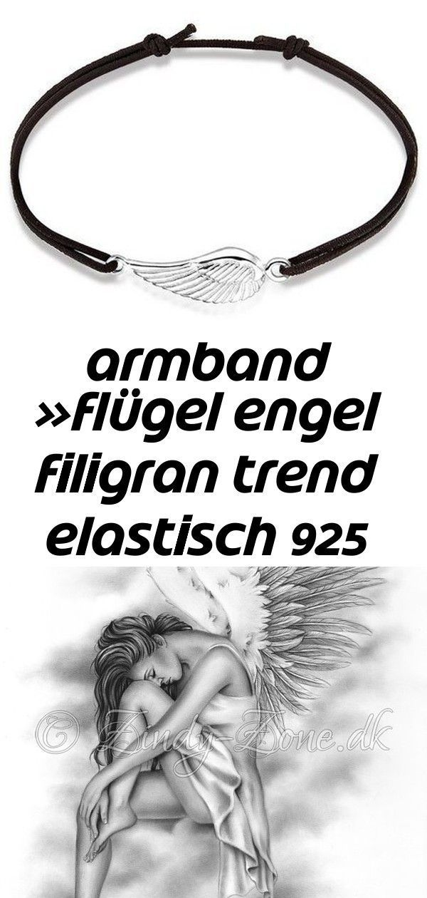 Armband »Flügel Engel Filigran Trend Elastisch 925 Silber« Bittersweet Angel Wings Sky Heaven