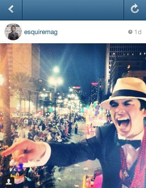 Ian at Mardi gras ♥ Photo credit @Esquire Magazine Magazine Magazine Magazine IG