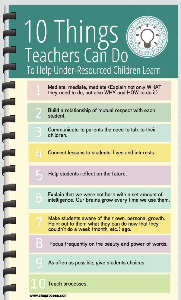 10 Things Teachers Can Do To Help Under Resourced Children