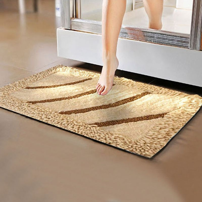 Anti Slip Five Star Hotel Cotton Bathroom Floor Mat Luxury Leopard
