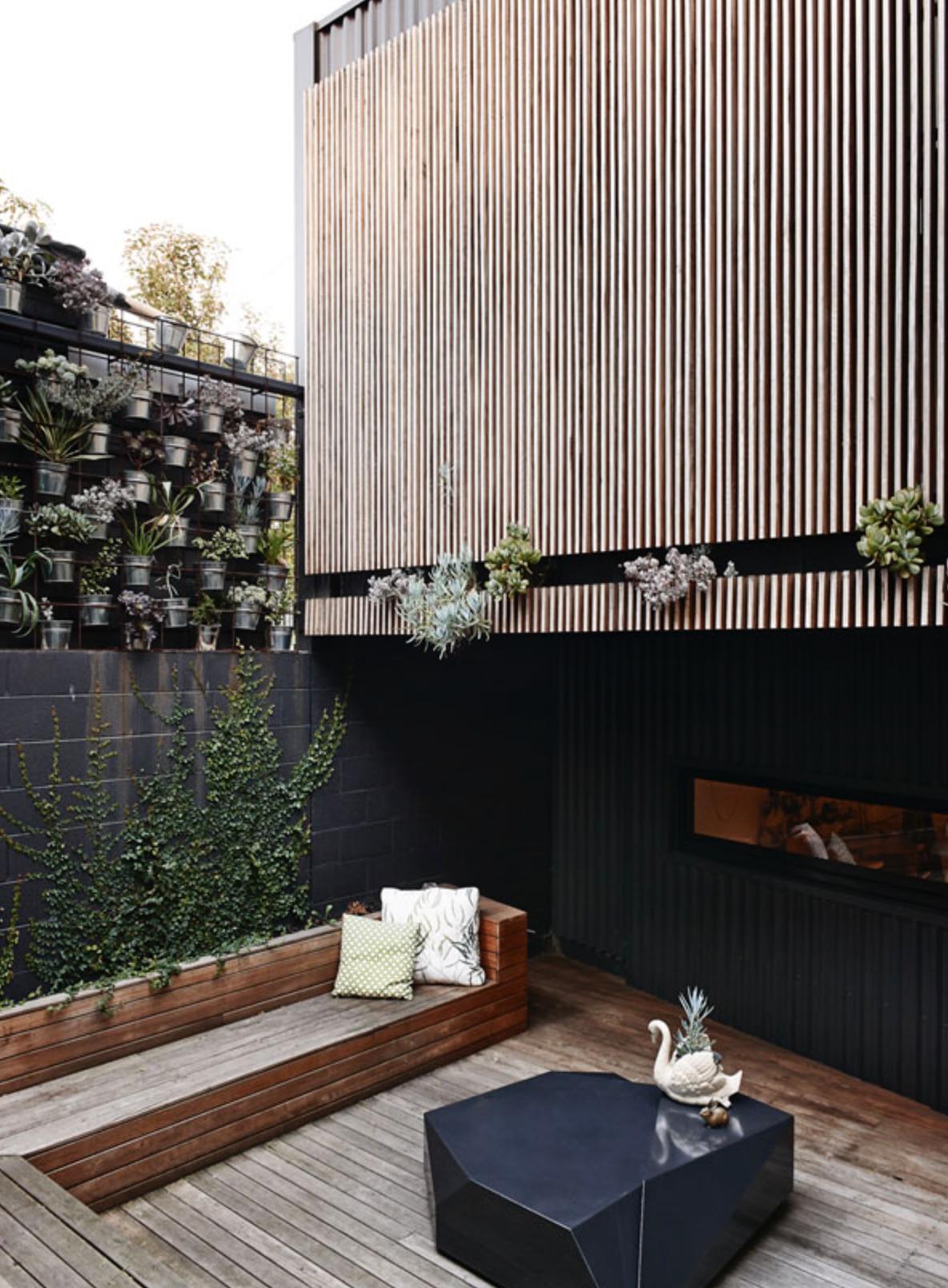 Home design exterieur und interieur bardage  jardinière  e x t e r i e u r  pinterest  architecture