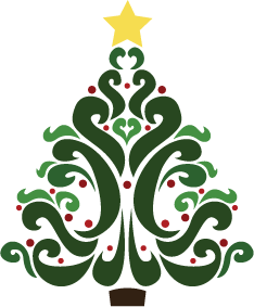 Image result for copyright free christmas tree clipart