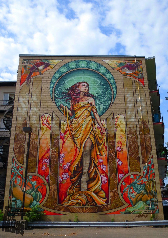 Art nouveau street art in montreal