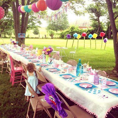 Daisy Pink Cupcake Backyard Birthday Outdoor 3rd Parties Themed