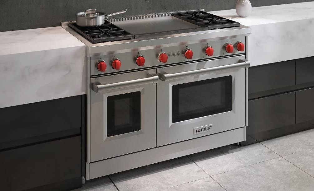 48 Gas Range 4 Burners And Infrared Dual Griddle Goat