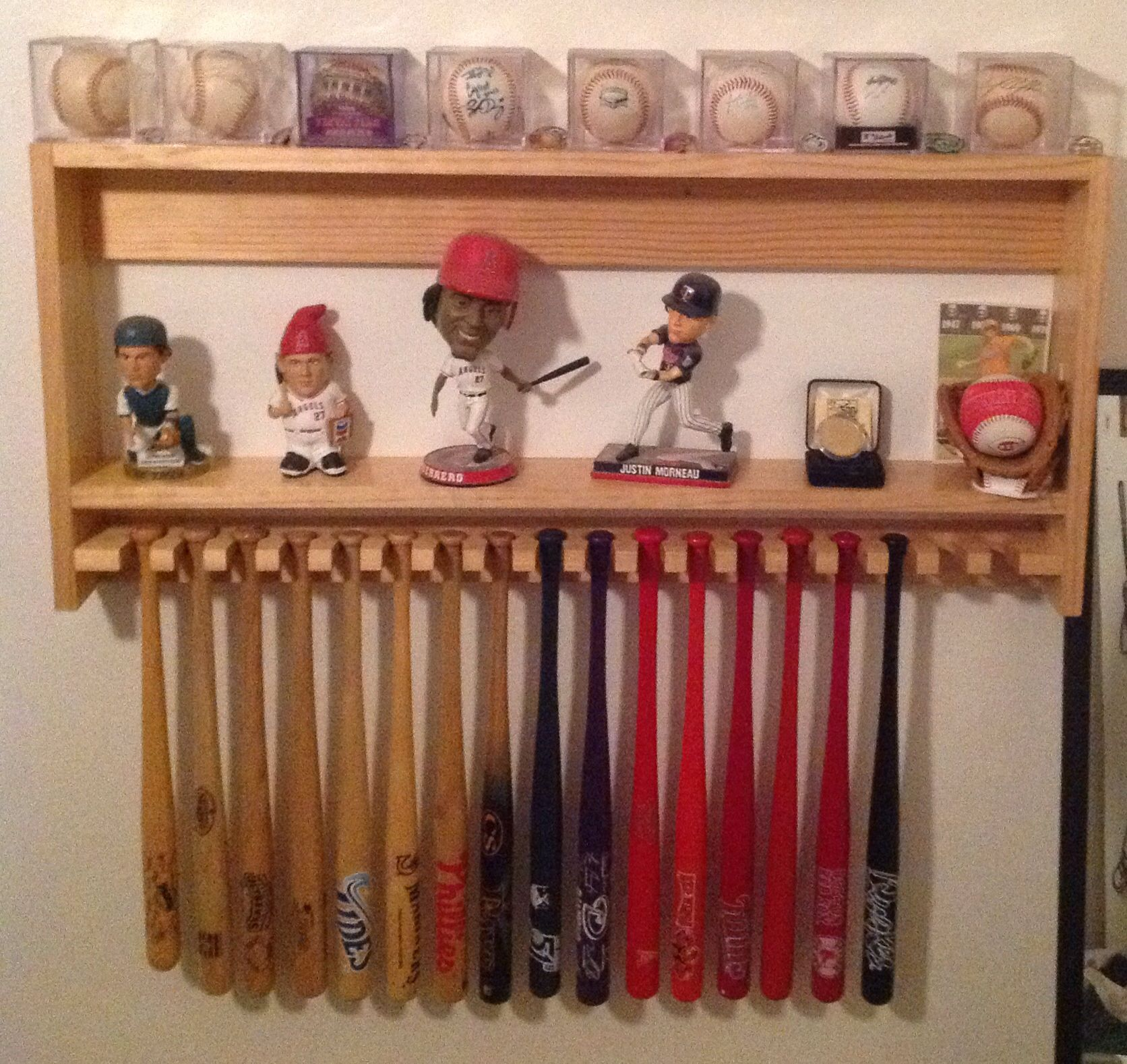 Awesome Mini Bat Holder With Shelf From Jet Hawks Stadium