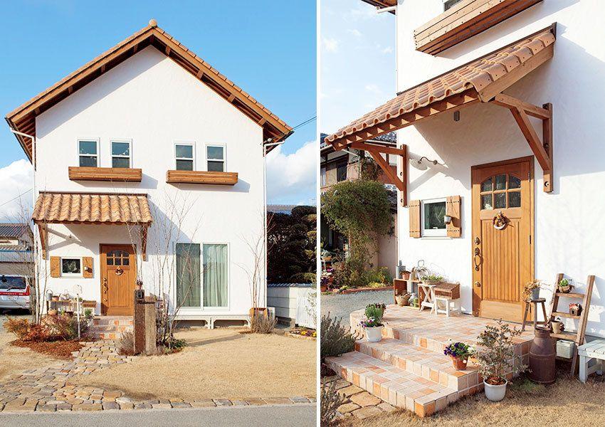 手作りのぬくもり満載 アンティークが似合う自然素材のやさしい家