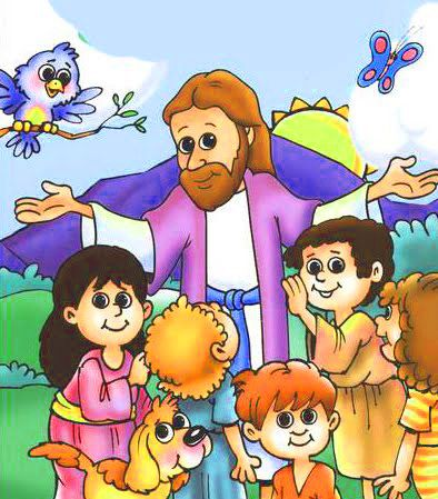Dibujo Jesus Y Los Ninos Felices Imagenes De Ninos Felices Dibujos De Jesus Caricaturas De Ninos