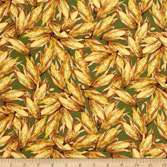 Let Us Give Thanks corn Green Sold by the Fat by JRsFabricStash, $4.00