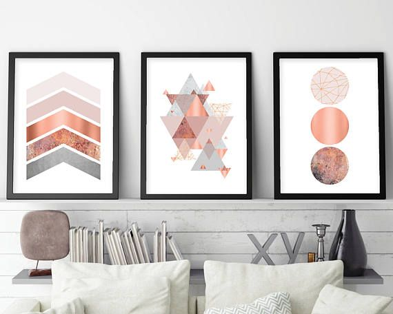 Printable Art Downloadable Prints Set Of 3 Prints Wall Decor