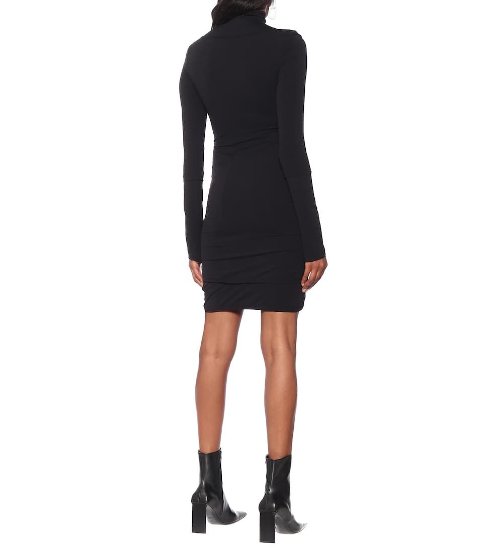 Jersey Turtleneck Dress Turtle Neck Dress Black Turtleneck Dress Jersey Turtleneck [ 1088 x 962 Pixel ]